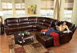cindy crawford recliner sofa cindy crawford home wellington avenue walnut 6 pc reclining