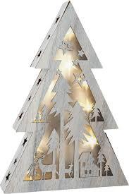 illuminated shabby chic christmas tree small