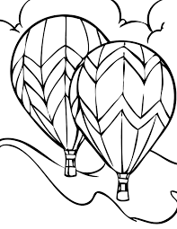 air balloon drawing clipart panda free clipart