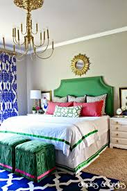Pink And Green Bedroom - preppy pink and green home decor driven by decor