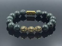 luxury men bracelet images Men 39 s jade and gold beads bracelet luxury bracelet jpg