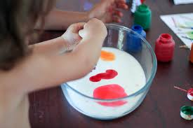 science project for toddlers teaches them about color inhabitots