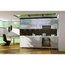 cuisine d usine dusine cuisine gris clair laquée infinity 8 éléments 2m40 pas
