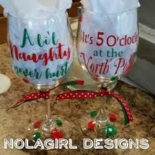 wine glass party favor christmas wine glasses a never hurt dear santa