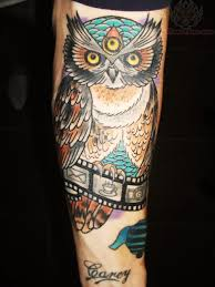 owl u0026 film strip tattoo awesome tattoos pinterest tattoo