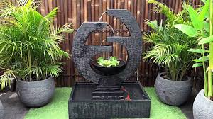 new eclipse medium grc concrete water feature youtube