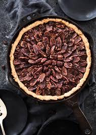 dish chocolate pecan skillet pie broma bakery