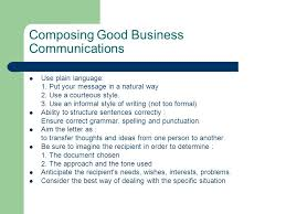 Business Letter Language language and tone in business letter writing composing