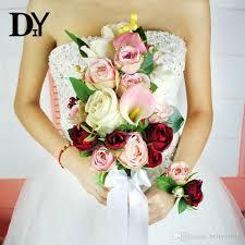 wedding bouquets cheap 2017 bouquet de mariage wedding bouquet handmade wedding bouquets