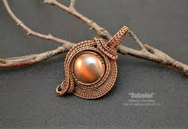necklace pendant making images Advanced copper wire woven jewelry tutorial inspirations the JPG