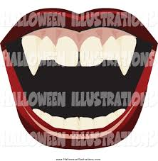 Vampire Teeth Clip Art Of A Open Mount With Red Lips And Vampire Fangs By Dennis