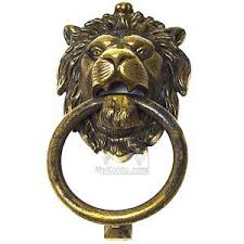 lion door knocker door knocker lion door knocker in antique brass distressed