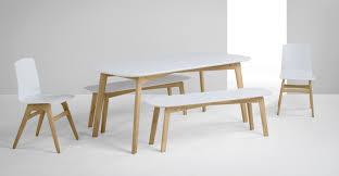 table et banc cuisine dante un set avec table et banc chêne et blanc table