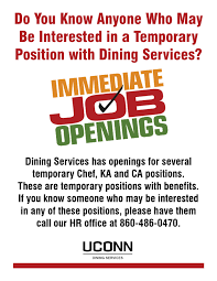 Uconn Career Services Resume Employment Dining Services