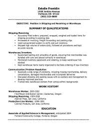 warehouse inventory cover letter cover letter and resume sample