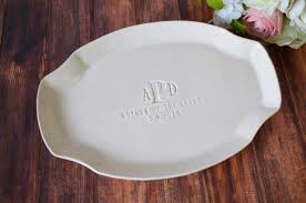 personalized ceramic platters personalized platter of the or groom wedding gift gif