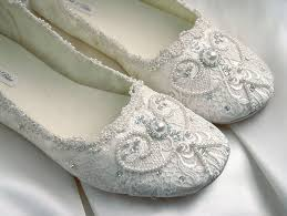 vintage style wedding shoes wedding shoes bridal ballet flat vintage lace by pink2blue