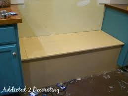 Storage Bench Seat Build by How To Build A Banquette Seat With Storage