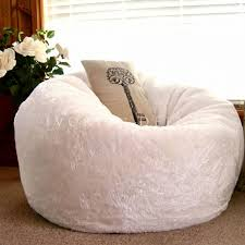 sofa impressive white bean bag chairs for adults unique furry