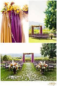 purple and orange wedding ideas amazing wedding arch with purple and orange hanging fabric draped