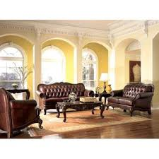 Classic Tufted Sofa Esofastore Formal Traditional Victoria 2pc Leather Sofa Set Sofa