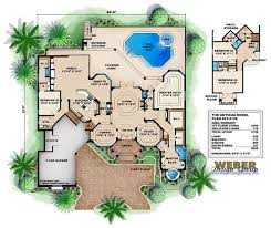 mediterranean house plans with pool interesting inspiration mediterranean house plans with gazebos 12