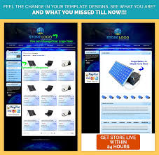 professional ebay listing template ultra blue theme design