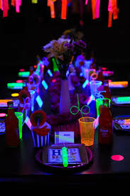 glow in the party ideas for teenagers neon glow in the birthday party ideas diy party ideas