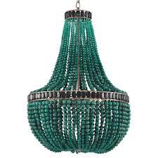 turquoise beaded chandelier global bazaar emerald green beaded chandelier kathy kuo home