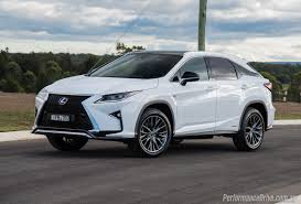 sporty lexus 4 door 2016 lexus rx 450h f sport review video performancedrive