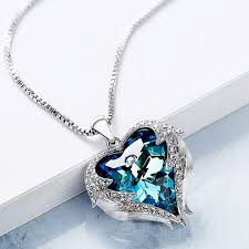 heart necklace from titanic images Ocean star necklace titanic woman heart heart pendant short jpg