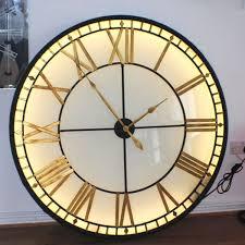 clocks backlit wall clock lighted clocks wall wall clock with