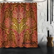 custom retro paisley shower curtain high quality bathroom