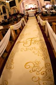 ivory aisle runner custom aisle runner designs for your wedding ceremony inside