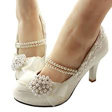 wedding shoes kl getmorebeauty women s with pearls across ankle top