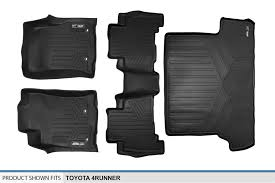 floor mats for toyota 2013 2016 toyota 4runner w 3rd row black floor mats liner set