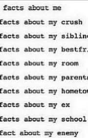 facts about me 3 facts about my ex wattpad