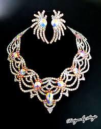 swarovski crystals necklace design images Ballroom jewelry ballroom accessories elegant swarovski crystal jpg