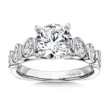 platinum rings stones images Caro74 diamond engagement ring with semi bezel side stones in jpg