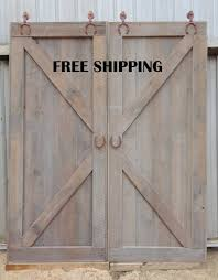 Barn Door Room Divider X Brace Double Sliding Barn Door Room Divider Horseshoe Track