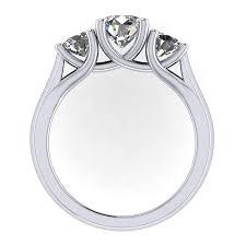 trellis three stone ring round stones fine jewelry manufacturer