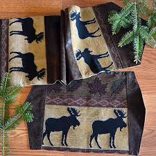 adirondack moose table runners u0026 placemats cabin place