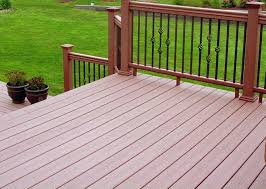 black rails deck cedar decking stain dark with black rails mike