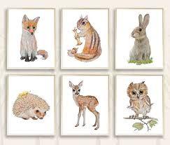 13 best woodland themed nursery wall art images on pinterest