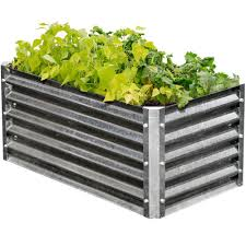 corrugated iron raised garden beds home design inspirations