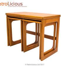 Expanding Tables Mcintosh Teak Triple Nest Of Expanding Tables Retro Vintage G Plan