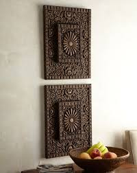 asian carved wood wall home design ideas