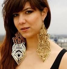 big earings european american woman s fashion cool exaggerated big acrylic