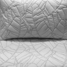 King Size White Coverlet Cotton Bedspread Light Grey Leaf Quilt From Tatvakala Bed Quilt