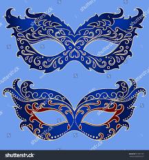 set festive masks beautiful mask celebrate stock vector 517821739